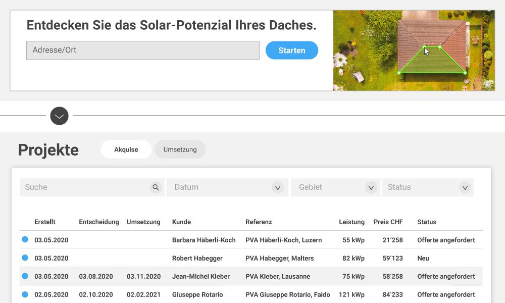 Klicks vom SolarApp Banner auf Ihrer Webseite führen zu konkreten Projektanfragen.