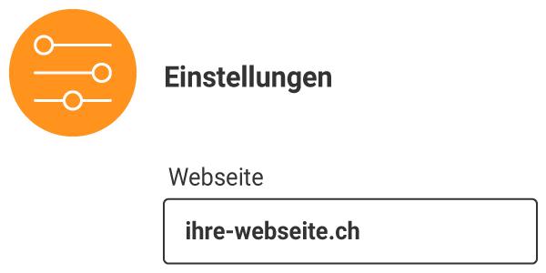 Einstellungen Solarapp auf ihrer Website